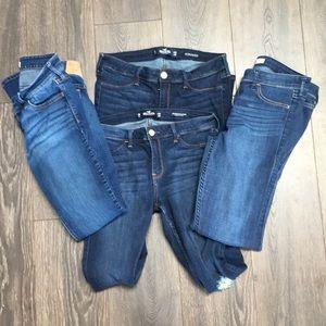 Bundle 4 Hollister Jeans Size 9